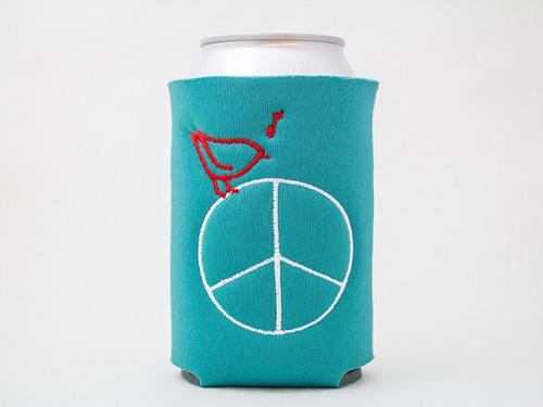 Peace Drink Sleeve (teal)