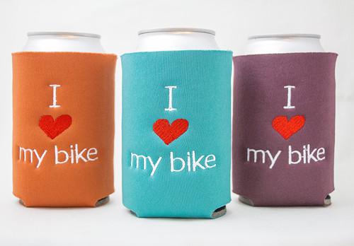 I Love my Bike Drink Sleeve