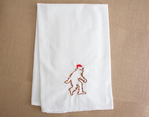 Santasquatch Flour Sack Towel