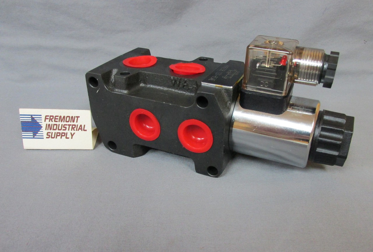 Hydraulic solenoid operated selector diverter valve 12 volt DC Dynamic Fluid Components