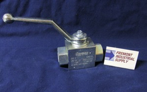 (Qty of 1) Hydraulic Ball Valve 2 way #12 SAE ports 5800 PSI Gemels GE2EEE34011A000