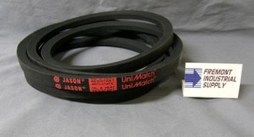 "2/B63 Banded 2 Ribs V-Belt 5/8"" wide x 66"" outside length  Jason Industrial - Belts and belting products"