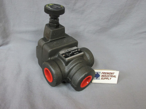 "(Qty of 1) Inline hydraulic pilot operated relief valve 3/4"" NPT 1000-3000 PSI adjustment range  Power Valve USA"