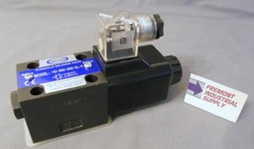 (Qty of 1) Power Valve USA HD-2A2-G02-DL-B-DC12 D03 hydraulic solenoid valve 4 way 2 position single coil  12 volt DC  Power Valve USA