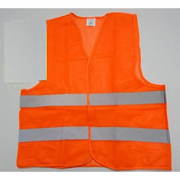 20 Brand New Adult Size Orange Safety Vests Wholesale