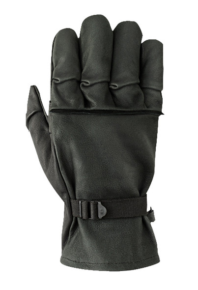 Hawkeye Flexor Gloves, Black Leather, Small
