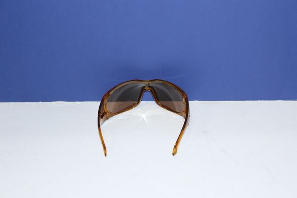 Emporio Armani orange/brown polarized sunglasses