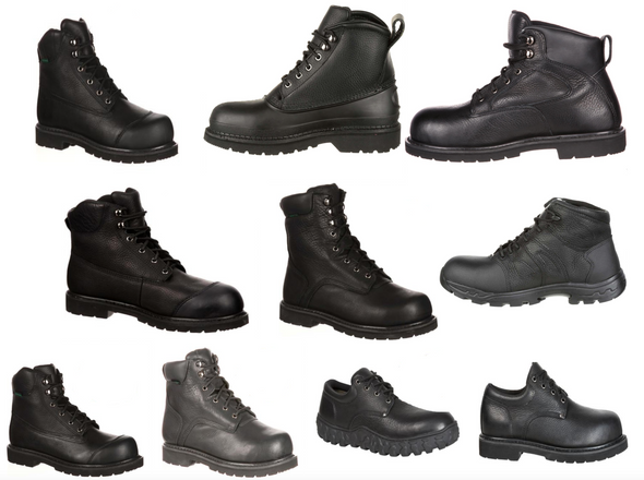 Lehigh by Rocky Work & Safety Boots & Shoes, Various Features & Styles, Black