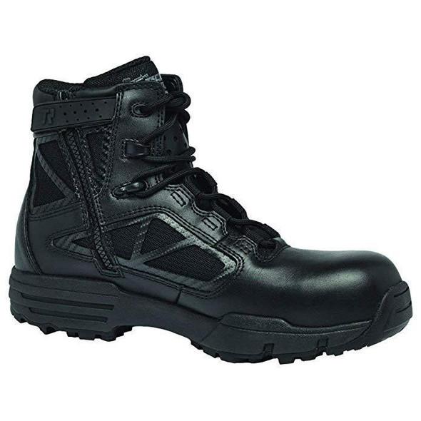 """Belleville Chrome Composite Toe Side-Zip 6"""" Boots, Black (TR916ZCT)"""