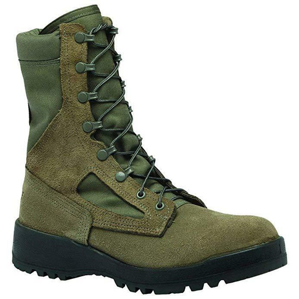 Women's Waterproof Sage Green Safety Toe Boot - USAF 040R