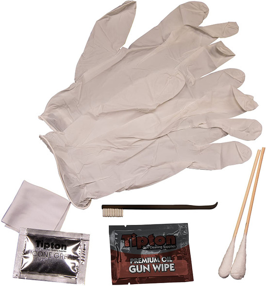 Tipton Handgun Field Cleaning Kit for Pistols in Convenient Re-Sealable Package