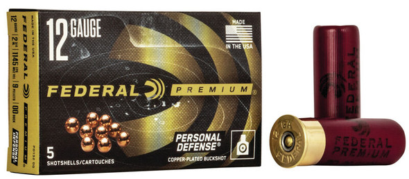 Federal Premium Personal Defense Shotshell with Flite control Wad 12 Gauge-Case of 250 Rounds