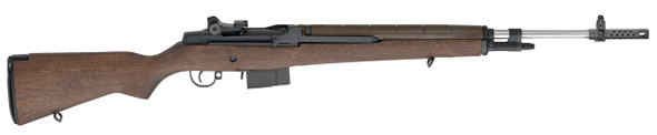 """M1A™ National Match Rifle W,Stainless Barrel, CA Compliant .308 Walnut"
