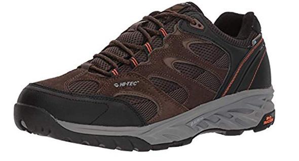 Hi-Tec Men's V-lite Wild-fire Mid I Waterproof Hiking Boot, Chocolate/Burnt Orange