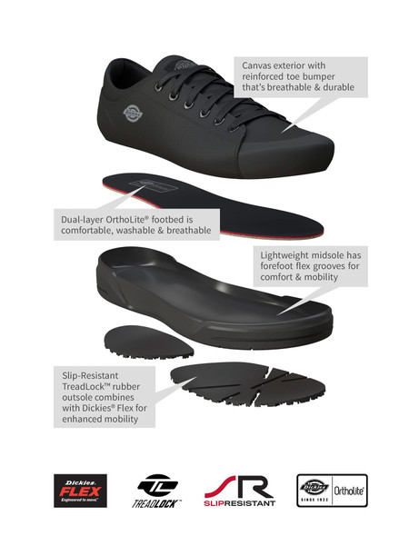 Dickies Men's Supa Dupa Slip Soft Toe Casual Sneakers, Blackout