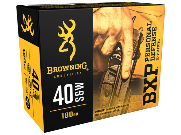 Browning BXP Personal Defense .40 S&W Ammunition JHP 180 Grains (200 Rounds)