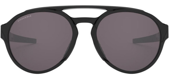 Oakley OO9421-0158 Forager Sunglasses Polished Black and Prizm Grey Lens