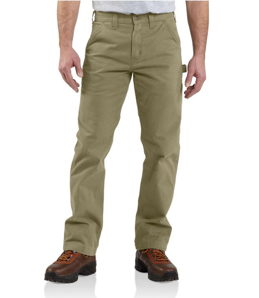 Carhartt Men's Washed Twill Relaxed Fit Work Pant, Dark Khaki