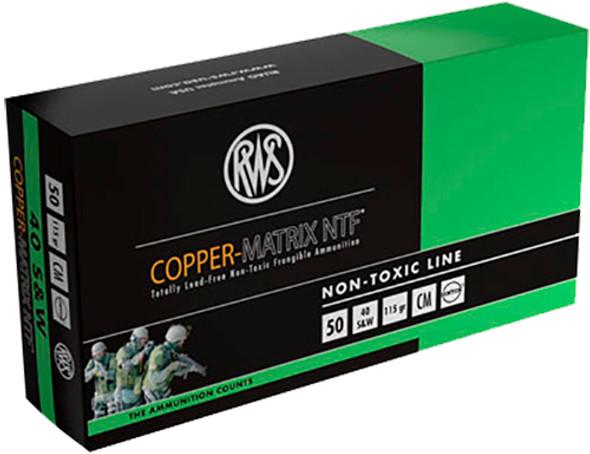 Ruag CM40 40 S & W Frangible 115 Ge Copper Matrix Per 500 Rounds