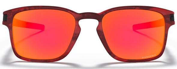 Oakley Latch SQ (A) Matte Translucent Sunglasses w/ Prizm Ruby Lens - OO9358-1655