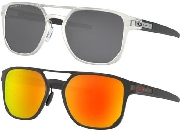 Oakley Latch Prizm Polarized Men's Flat-Top Pilot Sunglasses - OO4128
