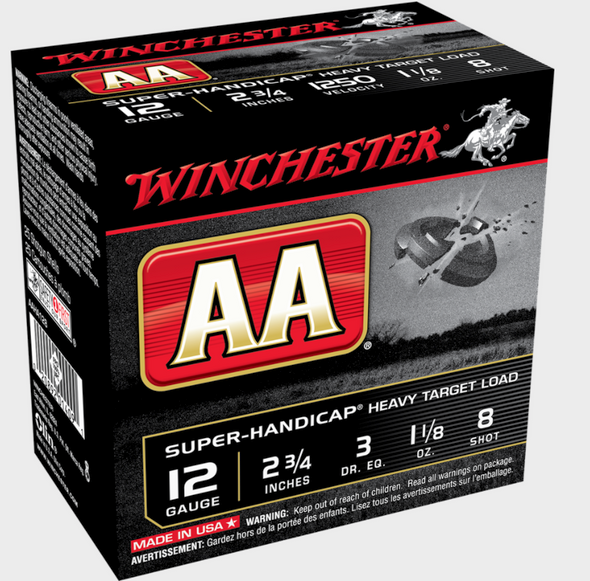 Since 1965, AA has been recognized as one of the finest quality target shotshells ever developed, continuing the Winchester tradition of legendary excellence with unparalleled target-breaking performance that revolutionized the target shooting and reloading industry BRAND:AA ROUNDS PER BOX:25 ROUNDS PER CASE:250