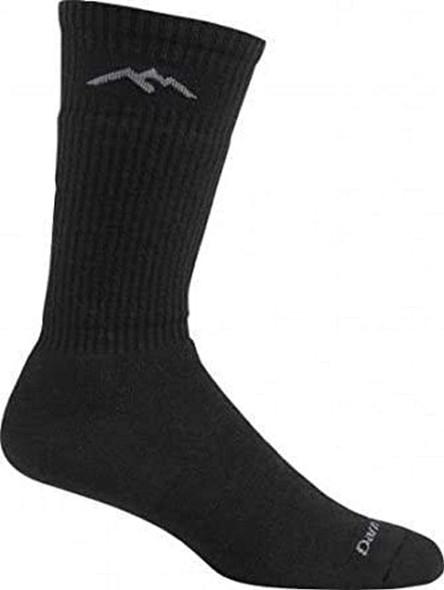 Tactical Merino Wool, Micro Crew, Seamless Ultralight Boot Sock, Style #14025 Black / Large