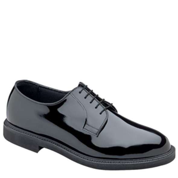 Bates High Gloss DuraShocks Oxford Shoes, Black, 6.5 E