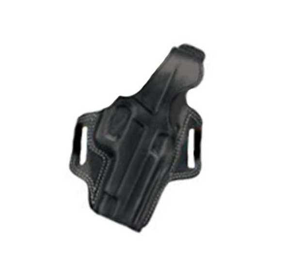 Galco Fletch High Ride Belt Holster for 1911 5-Inch Colt, Kimber, Para, Springfield (Black, Right-hand)
