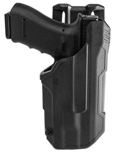 Blackhawk T-Series Holster L2D LB Glock (RH) 17/22/23/31 w/ TLR 1/2 - 44N200BKR