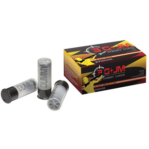"Fiocchi Specialty 12 Gauge Inert Dummy Action Proving Rounds 10 Rounds 2-3/4"" Shooting Dynamics No Primer/No Powder Realistic Feeling Weight"