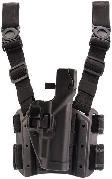 Blackhawk Serpa Lvl 2 Tac Drop Leg Holster (Glock 9mm/.40/.357) - 430500BK-R