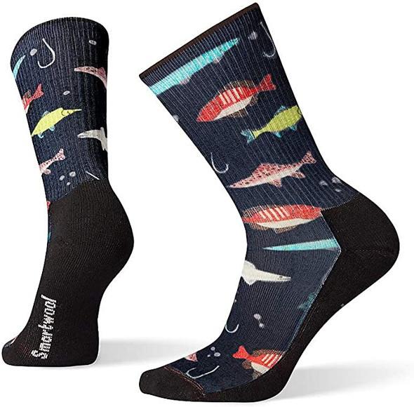 Smartwool Hike Lure Print Crew Men's & Women's Socks