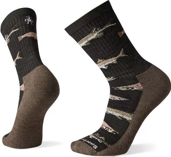 Smartwool Men's Hike Light Fish Pattern Crew Socks - SW001483