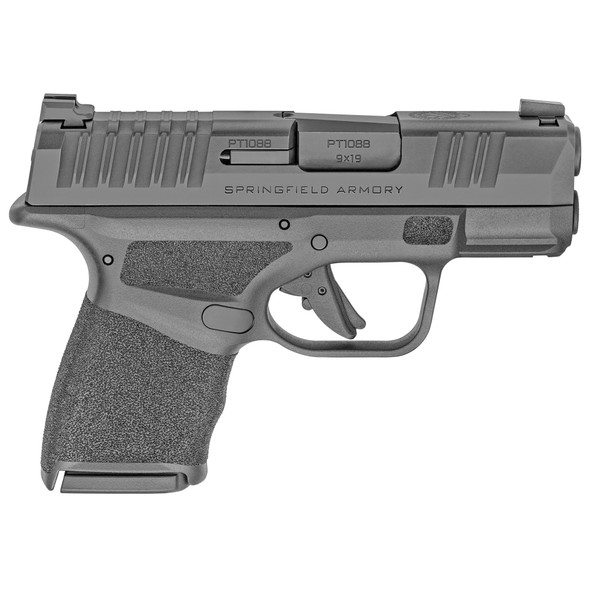 """Springfield Armory Hellcat Micro-Compact 9mm Luger 3"""" 10+1 Black Melonite Steel Slide Black Polymer Grip"""