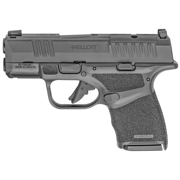 "SPRINGFIELD ARMORY HELLCAT OPTIC READY  MICRO-COMPACT 9MM LUGER 3"" 10+1 BLACK MELONITE STEEL SLIDE BLACK POLYMER GRIP"