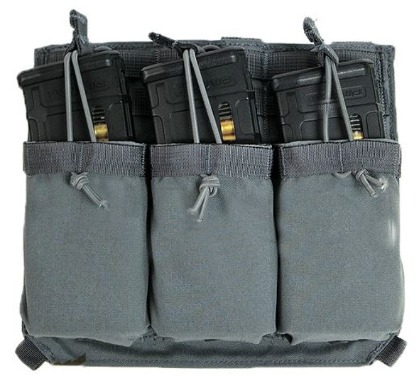 Eagle Industries FB Style Triple M4 Front Flap Magazine Holder, Gray