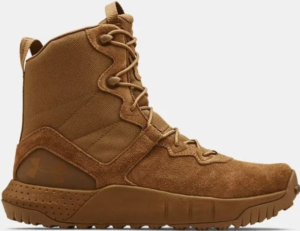 Under Armour Men's UA Micro G Valsetz Leather Boots, Coyote - 3024009-200