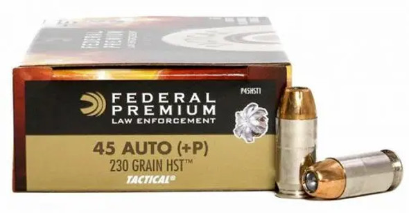 Federal HST 45 ACP – 230 gr Jacketed Hollow Point +P – 100 Rounds