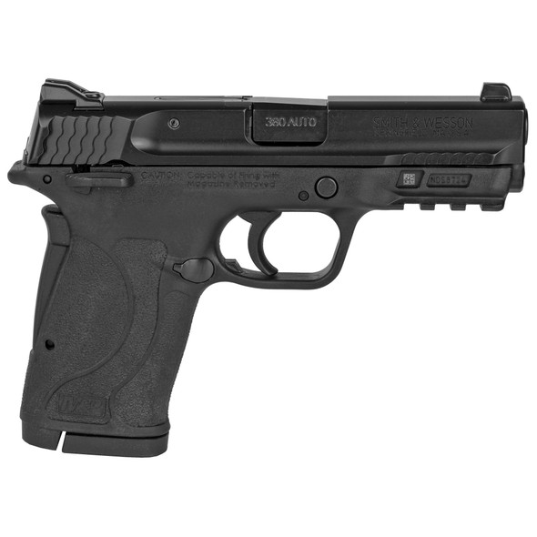 """Smith & Wesson, M&P380 SHIELD EZ M2.0, Semi-automatic Pistol, Internal Hammer Fired, Compact, 380ACP, 3.675"""" Barrel, Polymer Frame, Black, 3-Dot Sights, Grip/Thumb Safety, 8Rd, 2 Magazines"""