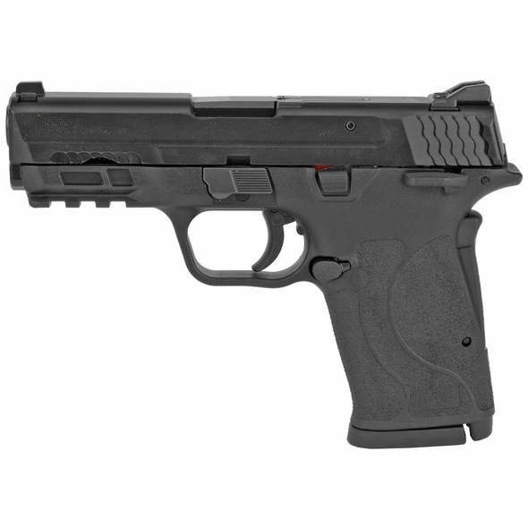 """Smith & Wesson, M&P9 SHIELD EZ M2.0, Semi-automatic Pistol, Internal Hammer Fired, Compact, 9MM, 3.675"""" Barrel, Polymer Frame, Black, 3-Dot Sights, Grip/Thumb Safety, 8Rd, 2 Magazines"""