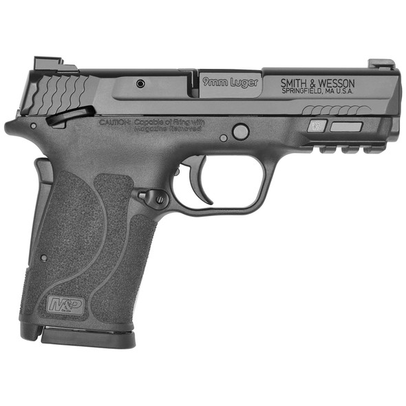 "Smith & Wesson, M&P Shield EZ M2.0, Semi-automatic Pistol, Compact, 9MM, 3.6"" Barrel, Polymer Frame, Armornite Finish, Black, TruGlo Pro Night Sights, Grip/Thumb Safety, 8Rd, 2 Magazines"