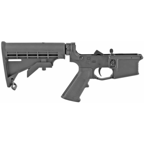 KE Arms, Complete Lower Receiver, Semi-automatic, 223 Rem/556NATO, A2 Pistol Grip, Mil-Spec 6 Position Stock, Black