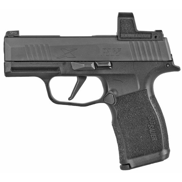 "Sig Sauer, P365X, Striker Fired, Compact, 9MM, 3.1"" Barrel, Polymer Frame, Black Finish, Romeo Zero 3 MOA Reflex Optic, 12Rd, 2 Magazines"