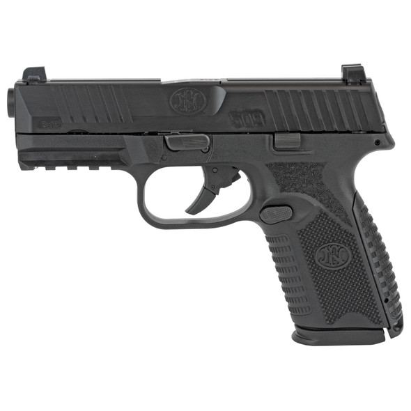 """FN America, FN 509, Semi-automatic, Striker Fired, Mid Size, 9MM, 4"""" Barrel, Polymer Frame, Black Finish, 2-15Rd Magazines, 3 Dot Sights, Non-Manual Safety"""