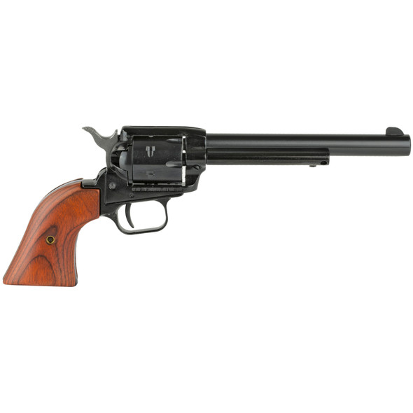 """Heritage, Rough Rider, Single Action Revolver, 22LR, 6.5"""" Barrel, Alloy Frame, Blue Finish, Cocobolo Grips, Fixed Sights, 6Rd, Long Rifle Cylinder Only"""