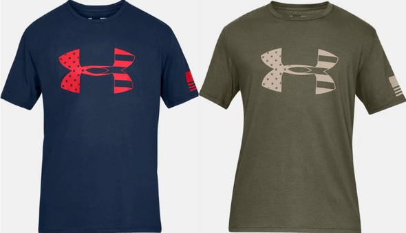 Under Armour Men's UA Freedom Tonal Athletic Graphic BFL T-Shirt - 1333367