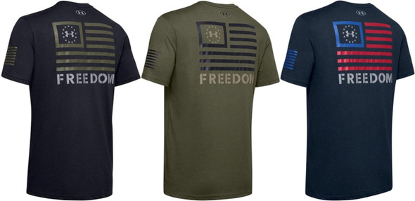 Under Armour Men's UA Freedom Banner Short Sleeve Athletic T-Shirt - 1352147