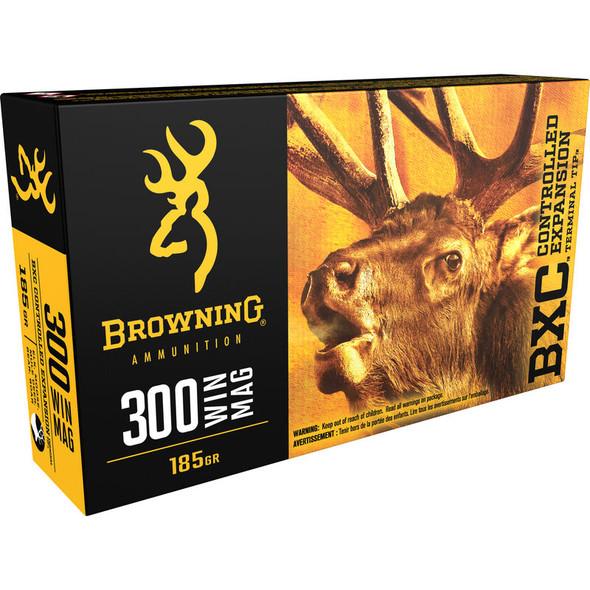 Browning BXC .300 Winchester Magnum Ammunition 20 Rounds BXC 185 Grains B192203001