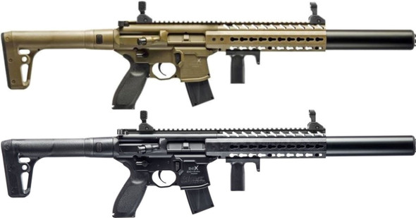 Sig Sauer MCX .177 Cal CO2 Powered 88GR Air Rifle, 30 Pellet Rds